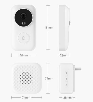 xiaomi zero ai face identification 720p ir night vision video doorbell 13