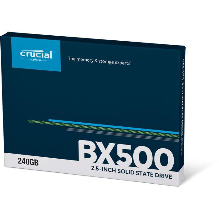 """Crucial SSD 240Go BX500 Sata 2""""5"""