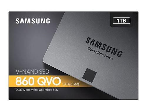 SAMSUNG SSD Interne ( 1 TO ) 860 QVO SATA III 2.5  - MZ-76Q1T0BW