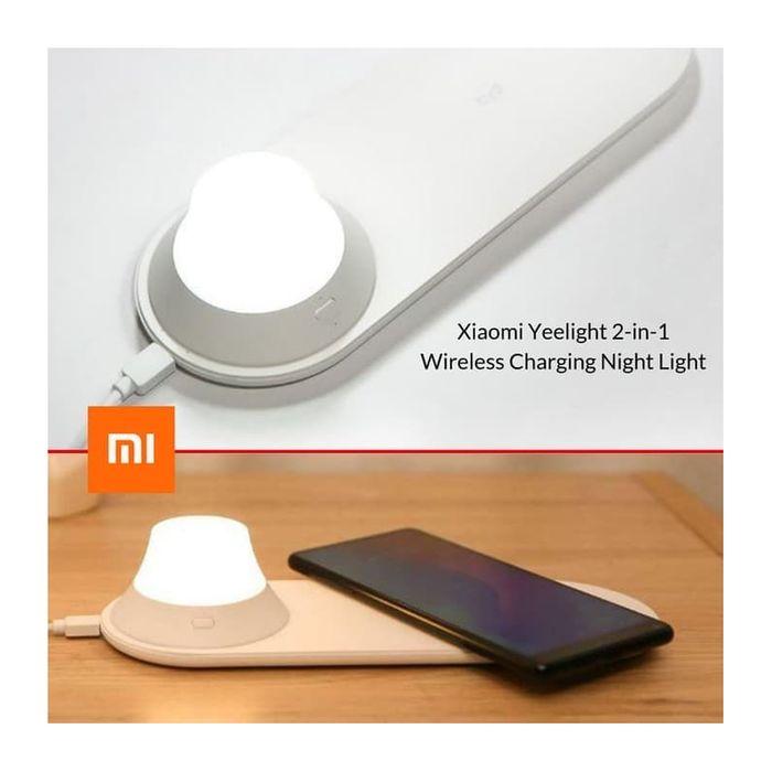 xiaomi yeelight chargeur sans fil avec veilleuse de nuit