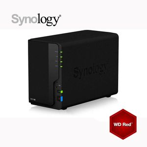 Kit Synology DS218 NAS 4To (2x 2To) WD RED