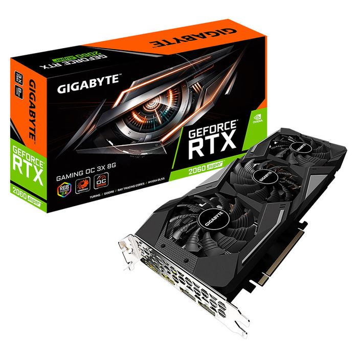 GIGABYTE GeForce RTX 2060 SUPER GAMING OC - 8GO GDDR6 - OC WINDFORCE3X - RGB FUSION