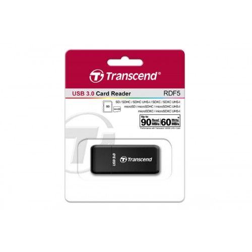 transcend lecteur de cartes sd microsd usb 3.0 noir ts rdf5k 1 wimotic