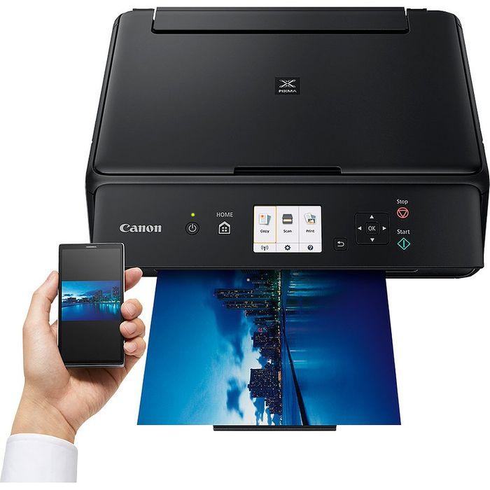 canon pixma ts5050 black 3en1 lcd wifi 4 wimotic
