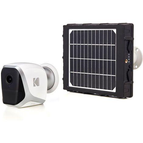 kit camera autonome sans fil full hd kodak w101 panneau solaire sp101 1