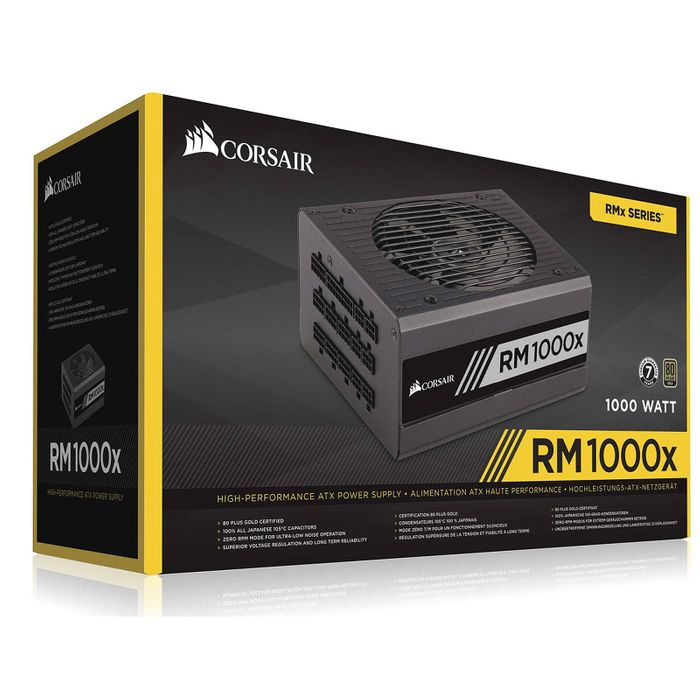 alimentation corsair rm1000x 80plus gold modulaire 1 wimotic