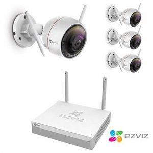 kit video surveillance wifi ezviz 4 cameras sans-fil