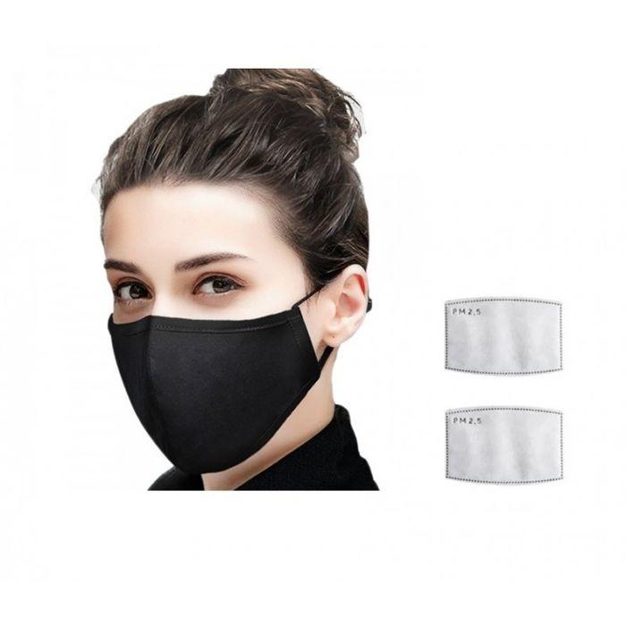 kit masque de protection tissu 2 filtres pm25 wimotic
