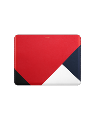 matebook leather case white red blue