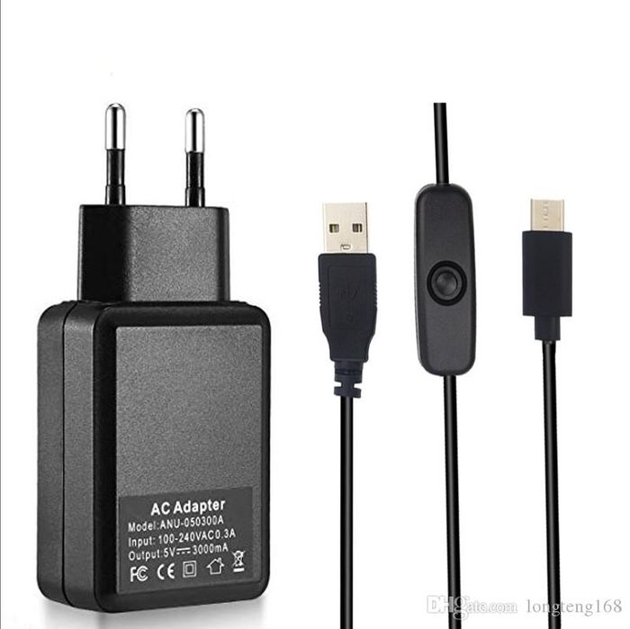 Alimentation chargeur 5V 3 A - 15W USB-C pour Raspberry Pi 4 EU