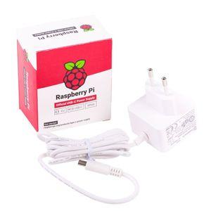 Alimentation chargeur Officielle 15.3W USB-C pour Raspberry Pi 4