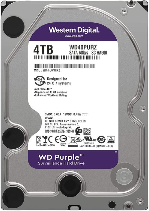 Western Digital WD Puple 4 To SATA 6Gb/s 64 Mo