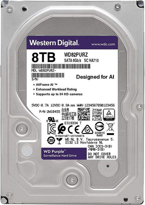 Western Digital WD Puple 8 To SATA 6Gb/s 64 Mo WD80PUZX