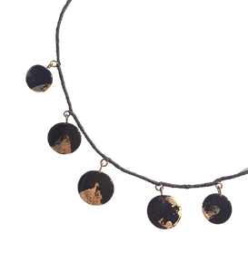 Collier noir et or Collection Lorelei par Marie Flambard