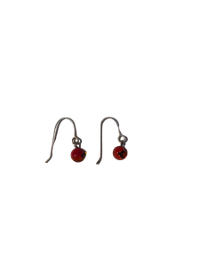 Boucles d'oreilles crochet rouge Collection Fusion par Marie Flambard