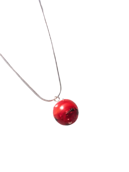 Pendentif Rouge collection Fusion par Marie Flambard