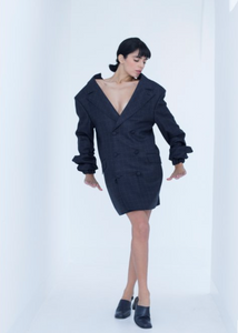 Manteau, robe tailleur croisée par Piqante